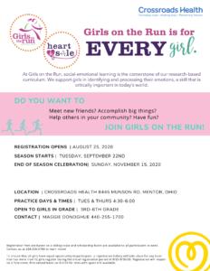 Girls on the Run - Crossroads Health